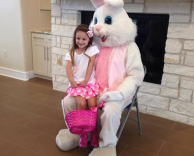 Little girl and Easter Bunny