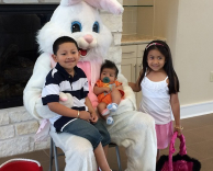 Kids with Easter Bunny