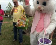 Easter Bunny waving